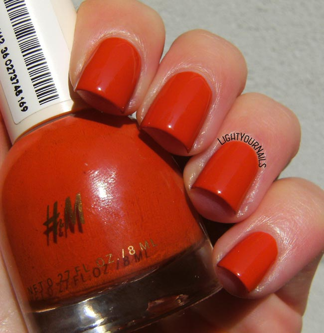 H&M October Russet smalto nail polish
