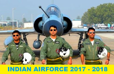 Upcoming Entries in Indian Air Force as Officers 2017 - 2018