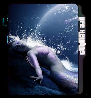 Mermaid girl icon, fish icons, Hot Mermaid girl folder icon.