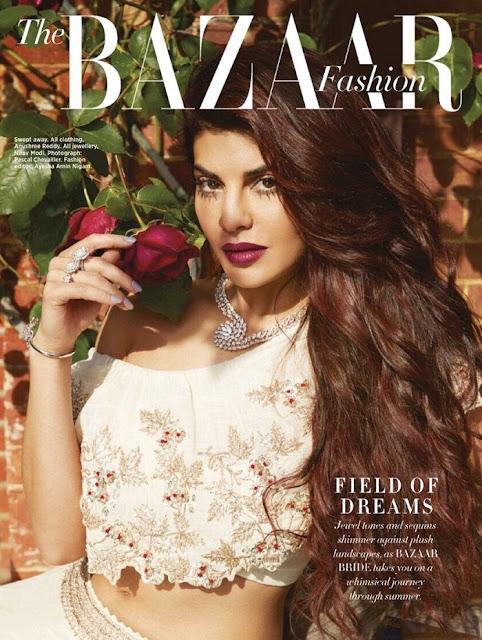 Jacqueline Fernandez Harper Bazaar India Photoshoot