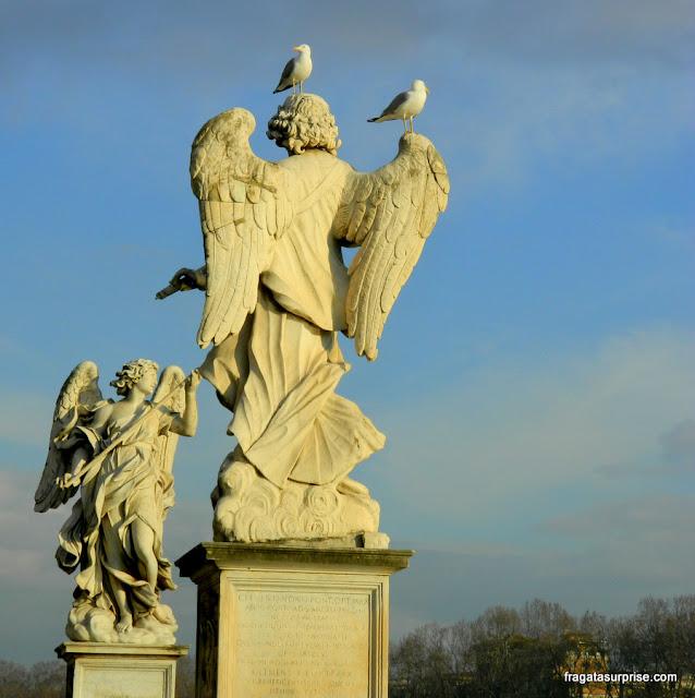 Roma, Ponte de Sant'Angelo, anjos de Bernini