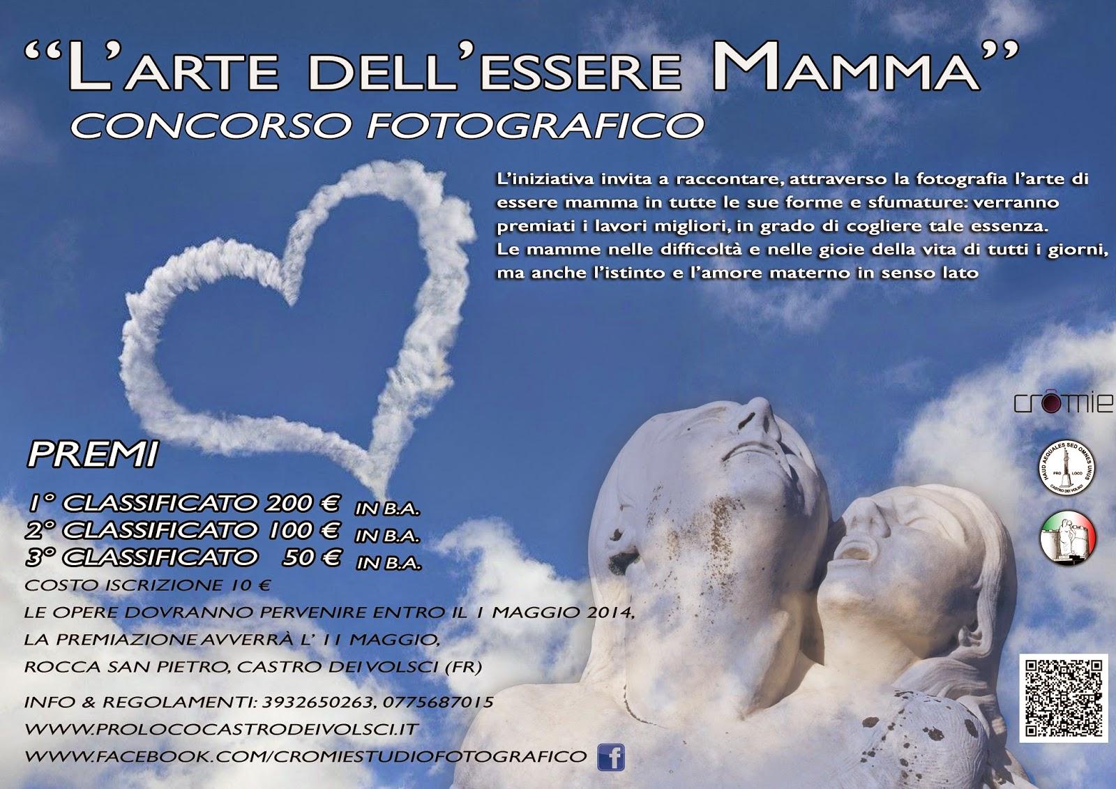 """Al via il concorso fotografico """"L'Arte dell'essere Mamma"""", in occasione del 50° Anniversario del monumento """"La Mamma Ciociara"""""""