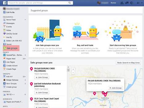 Beri Informasi Grup Jual Beli Yang Disarankan, Facebook Sematkan Grup Jual Beli (Sale Groups)