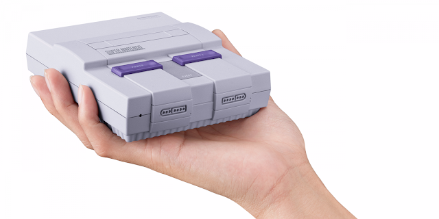 Imagem do novo Mini Super Nintendo Classic