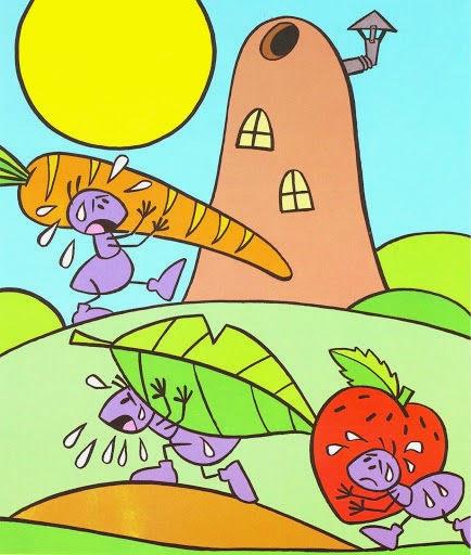 Cuentos Infantiles La Cigarra Y La Hormiga Fábula Ilustrada A