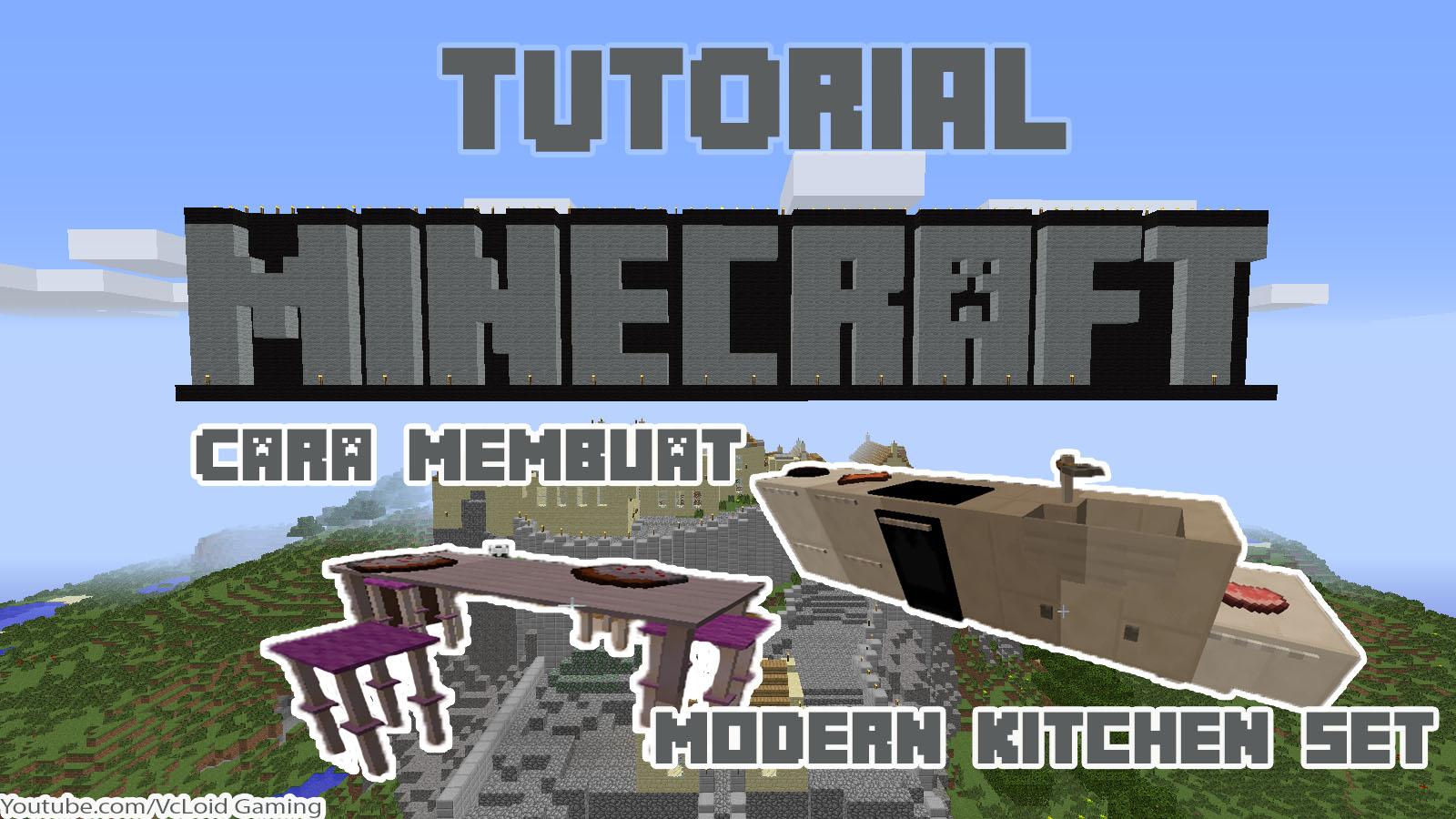 Cara Membuat Modern Kitchen Set Minecraft Dengan Command Block