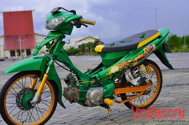 Modifikasi Jupiter Z Hijau Modif Simple