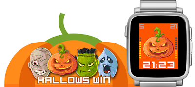 Hallowswin Halloween watchface for Pebble Time / Steel / Time 2