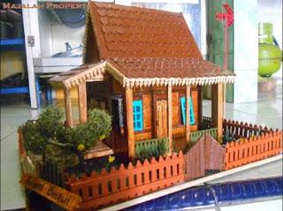 Rumah Adat dari Stik Es Krim, Arsitektur Tradisional Indonesia