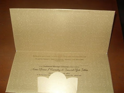 2face idibia wedding invitation card