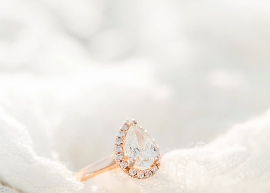 Surprise Proposal-Beach Engagement-Rose Gold Ring Photography by Something Minted
