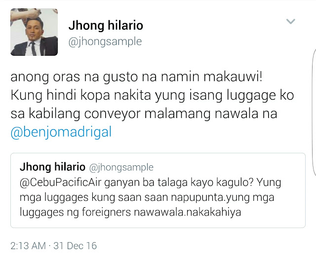 Jhong Hilario Criticized Cebu Pacific's Poor Service! Full Story Here!