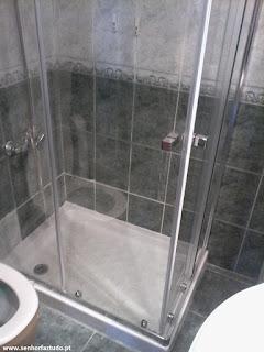 Instalação de bases de duche
