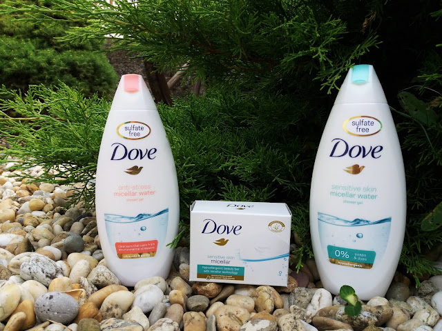 Dove anti-stress micellar water shower gel, Dove sensitive skin micellar soap, Dove senstitive skin micellar water shower ge