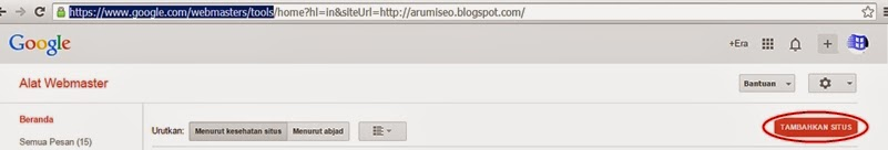 cara daftarkan blog ke google webmaster tools