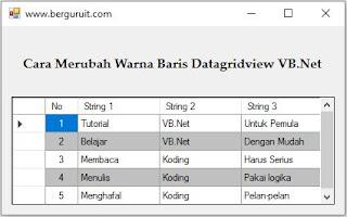 Cara Mengubah Warna Baris Datagridview VB.Net