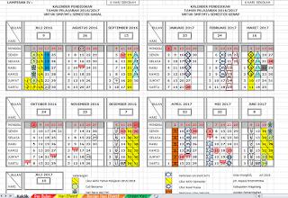 Kalender Akademik 2016/2017 Terbaru dilengkapi SK Kaldik