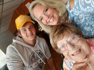Betty Morton with daughter Sarah & grandson Daniel