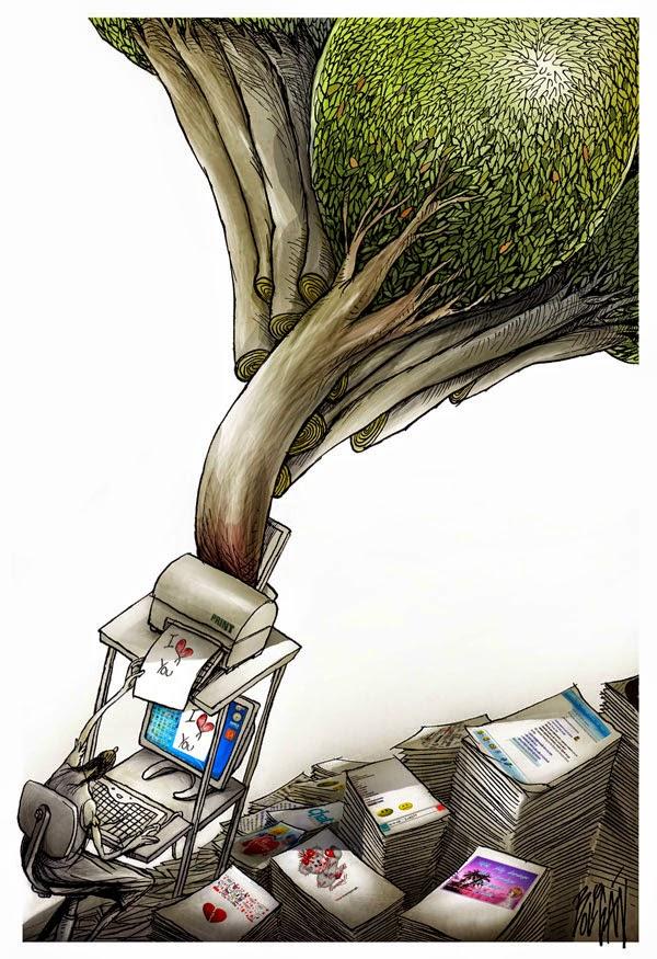 Angel Boligan - Sátira Surrealista | Desmatamento