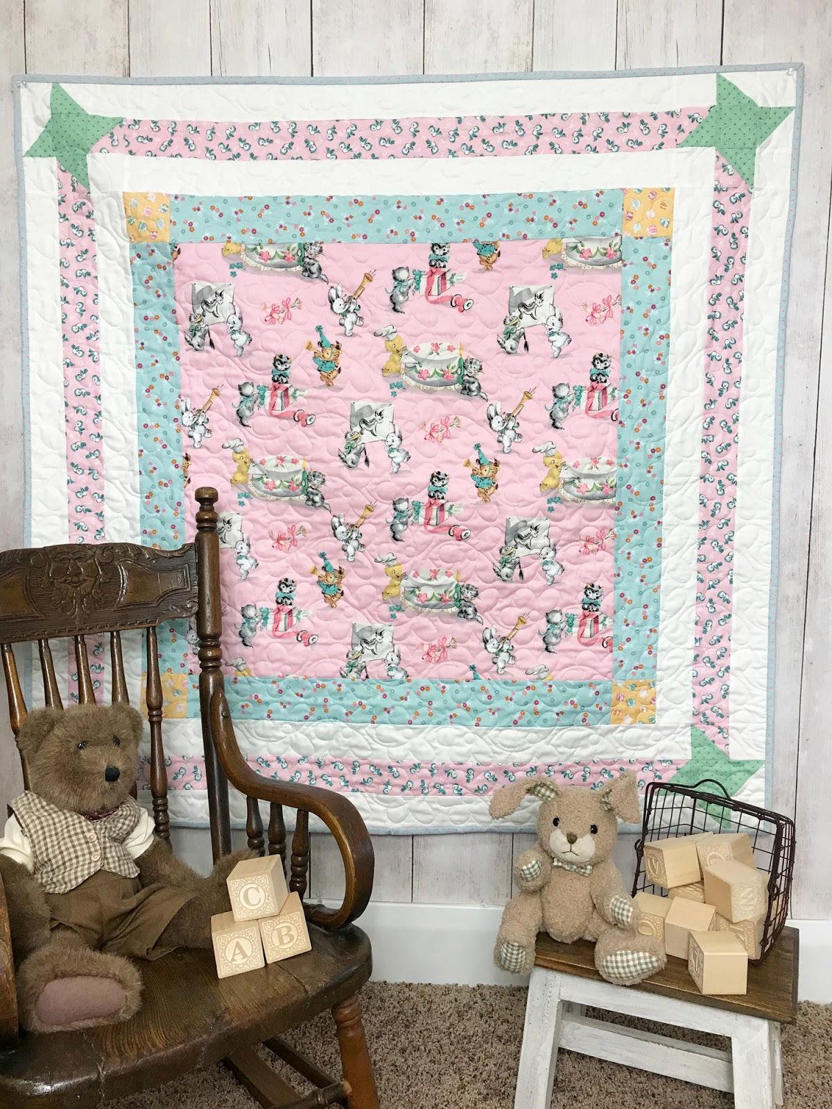 Primrose Cottage Easy Baby Quilt Tutorial