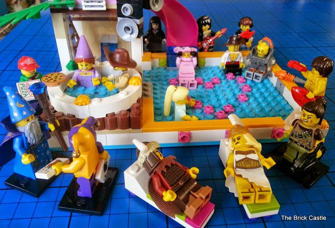 LEGO Minifigures series 12 chilling by the pool