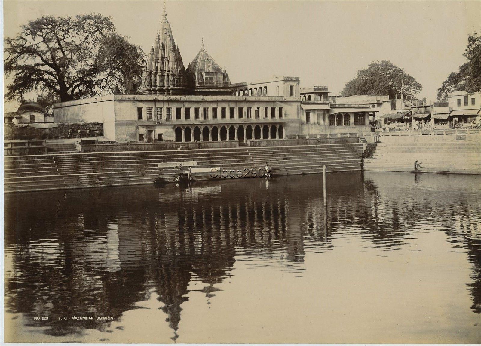A Tank in Benares (Varanasi) - c1900's