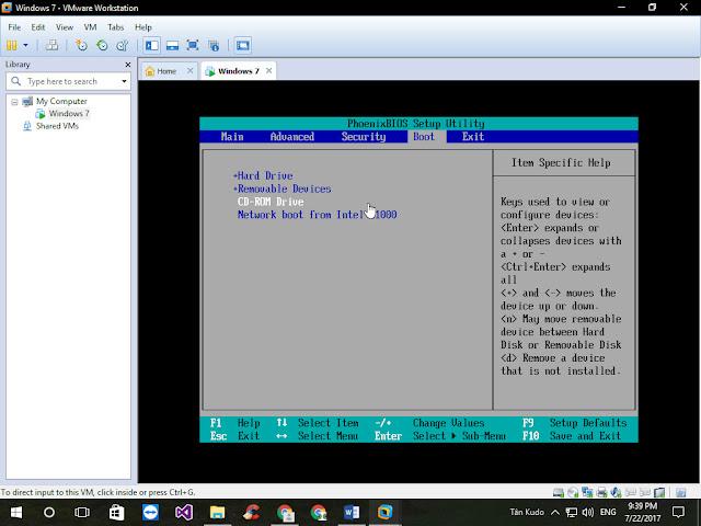 Cách Khởi động máy ảo VMWare Workstation từ USB Boot 5