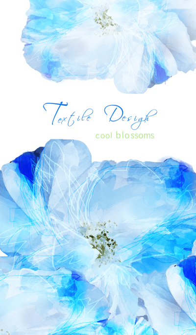 Cool blossoms of the watercolor