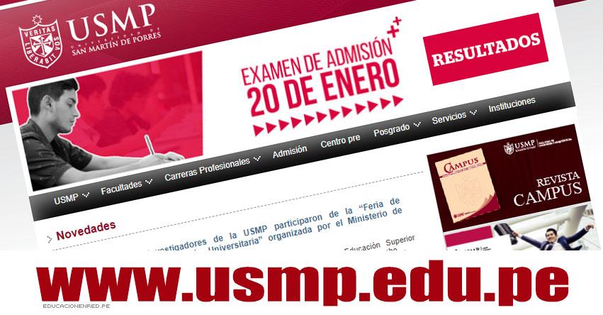 Resultados USMP 2019-1 (20 Enero) Lista Ingresantes Examen Admisión - Universidad de San Martín de Porres - www.usmp.edu.pe