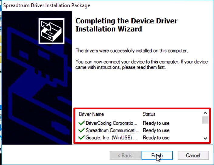 driver coding spreadtrum 64 bit