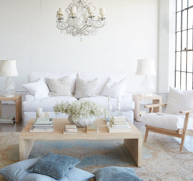 shabby chic living blanco