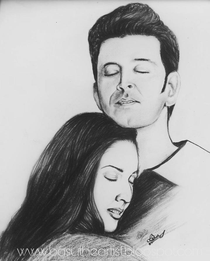 Kaabil hrithik roshan yami gautam sketch