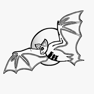 Full moon vampire bat image free Halloween printable pictures for children to color and print out