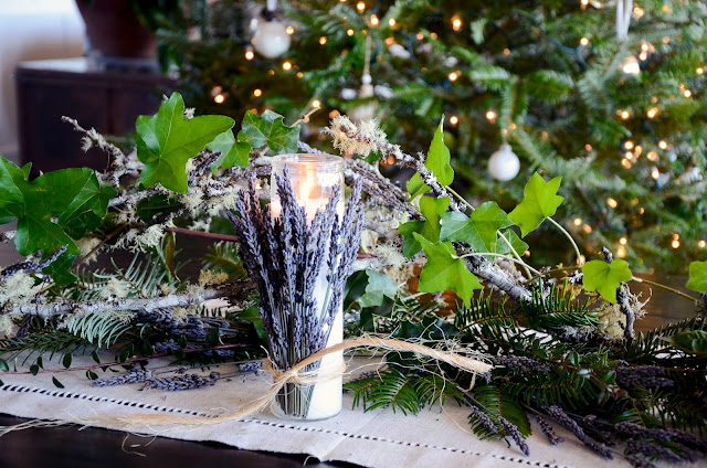 Lavender Table Arrangements for the Holidays