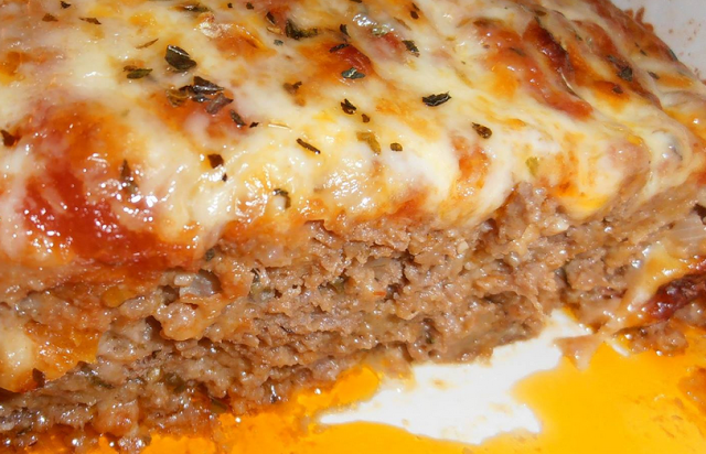 Skinny Pizza Meatloaf , weight watchers recipes , 6 smart points