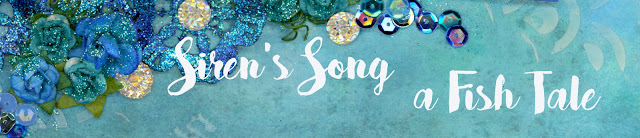 scrapbooking, scrapbook, custom, mixed media, ocean, beach, mermaid, sea, embossing, distress ink, crinkle ribbon, glitter, druzy, stamping, stenciling