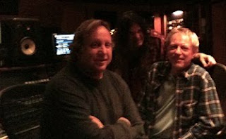 Ed Cherney, Curtis Don Vito and Bobby Owsinski at Village Recorder from Bobby Owsinski's Picture Production Blog