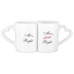 Mr Right Mrs Always Right | Funny Coffee Mug Set