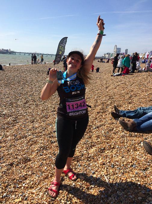 Tess Agnew - Brighton Marathon 2015 finisher - FitBits