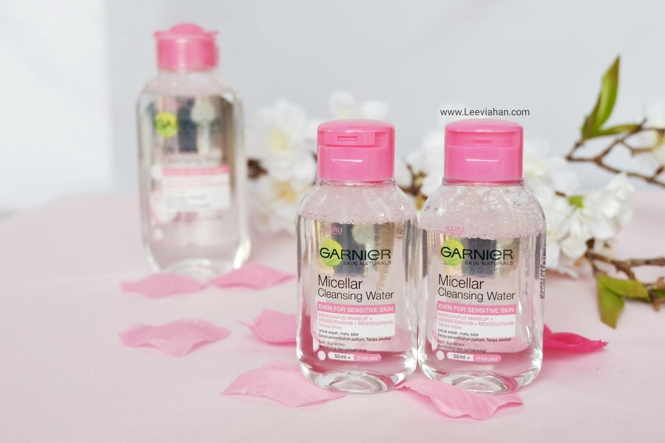 Beauty Blogger Indonesia by Lee Via Han: Pentingnya Double Cleansing Dengan  Garnier Micellar Water Versi Mini Size 50ml, BARU!