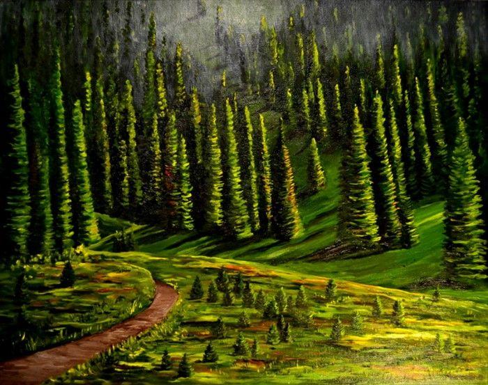 Колумбийский художник. Marcelina Posada