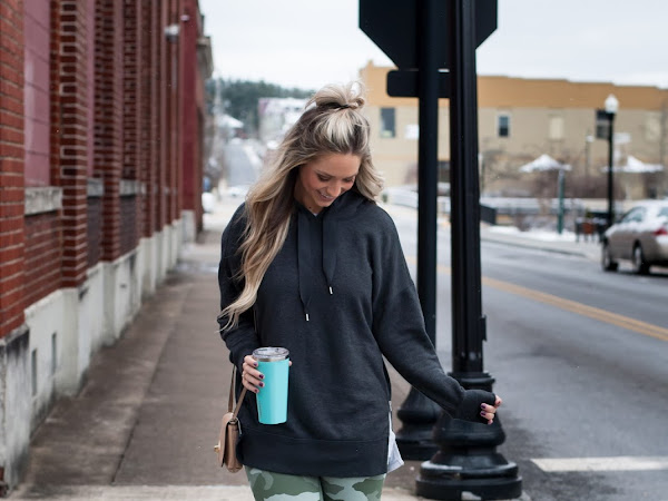 Camo leggings and Zip Hoodie Athleisure