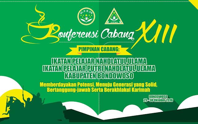 Desain Pentas II - Konferensi Cabang XIII IPNU & IPPNU Kabupaten Bondowoso