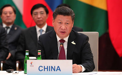 President of the People's Republic of China Xi Jinping at the informal meeting of BRICS heads of state and government.