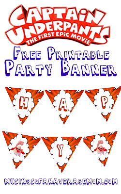 Captain Underpants party banner