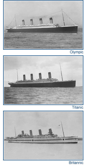 Britannic Engine Room: Finley's Shipwreck Blog: Titanic's Sister Ships