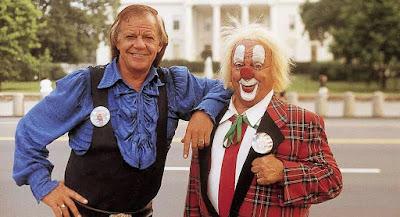 clown acrobaat duo