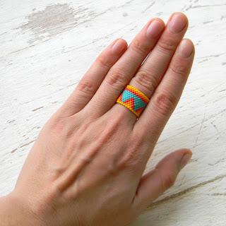 украшения из бисера купить по почте этнические кольца бохо украшения ручной работы