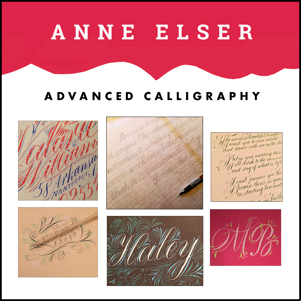 Anne elser last chance to sign up for new 2016 classes Anne elser calligraphy