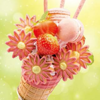 いちごのブーケパフェ(2018春)